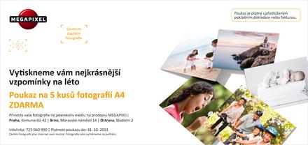 Poukaz na kvalitní tisk 5ks fotek A4!