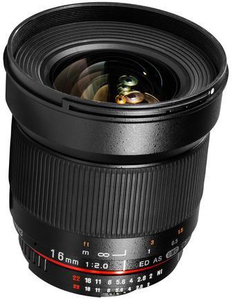 Samyang 16mm f/2,0 ED AS UMC CS pro Canon