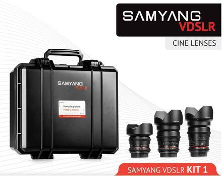 Samyang 14mm,24mm,35mm VDSLR Kit 1 pro Sony E
