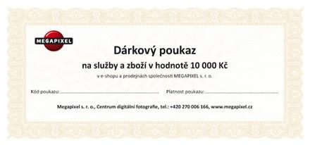 Dárkový poukaz v hodnotě 10 000 Kč