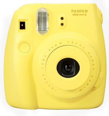 Fujifilm Instax Mini 8 instant camera žlutý + pouzdro + popruh!