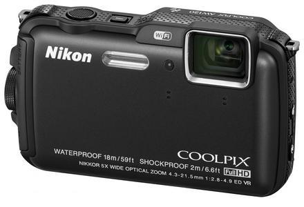 Nikon CoolPix AW120 černý + 8GB karta + neoprénové pouzdro + plovoucí poutko!