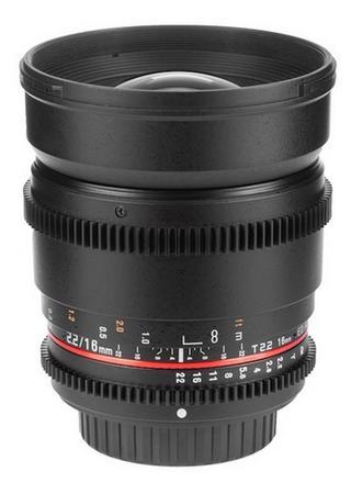 Samyang CINE 16mm T/2,2 VDSLR pro Sony E