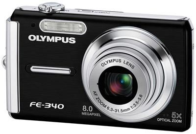 Olympus FE-340 černý + XD 512MB karta!