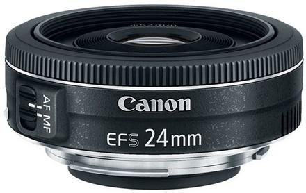 Canon EF-S 24mm f/2,8 STM + UV filtr + PL filtr + Lenspen!