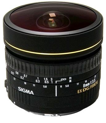 Sigma 8 mm F 3,5 EX DG Fisheye Circular pro Sigma + utěrka Sigma zdarma!