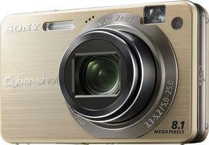 Sony DSC-W150 zlatý