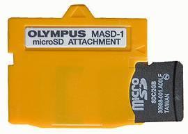 Olympus redukce MASD-1 na Micro SD karty
