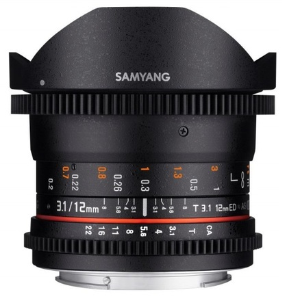 Samyang 12mm T/3,1 ED AS NCS VDSLR Fisheye pro Samsung NX
