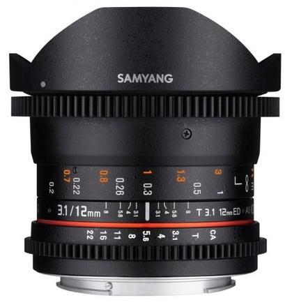 Samyang 12mm T/3,1 ED AS NCS VDSLR Fisheye pro Canon