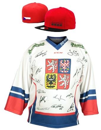 Hokejový reprezentační dres + čepice Gopro