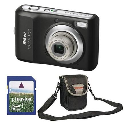 Nikon CoolPix L20 černý + 2GB karta + pouzdro Malta 5 zdarma!