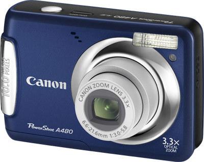 Canon PowerShot A480 modrý
