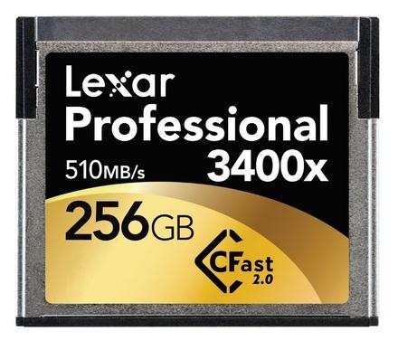 Lexar 256GB CF Professional 3400x CFast 2.0 510MB/s