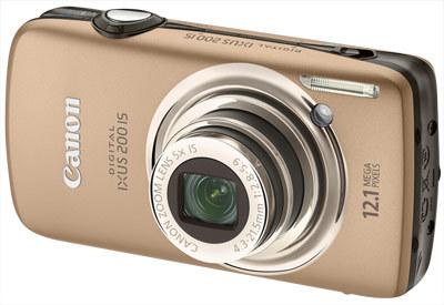 Canon IXUS 200 IS zlatý