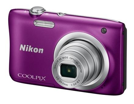 Nikon Coolpix A100 fialový + 8GB karta + pouzdro 60G!
