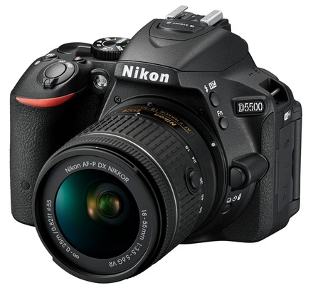 Nikon D5500 + 18-55 mm AF-P VR + 70-300 mm AF-P VR černý