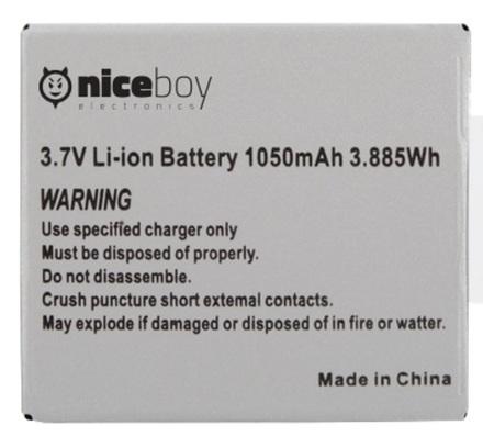 NICEBOY baterie pro VEGA 4K 1050mAh