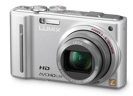 Panasonic Lumix DMC-TZ10 stříbrný + DVD přehrávač S54E-K + úsporná žárovka zdarma!