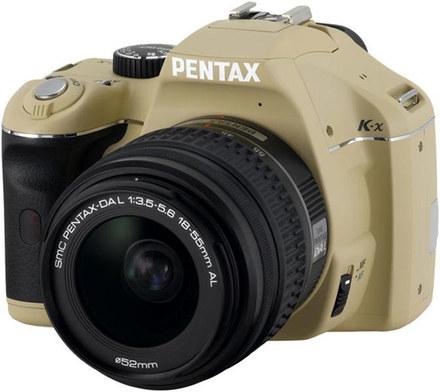 Pentax K-x béžový + 18-55 mm