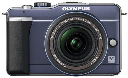Olympus E-PL1 modrý + 14-42 mm