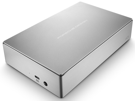 """LaCie Porsche Design Desktop 4TB HDD, 3.5"""" USB-C (USB 3.0), hliníkový, stříbrný"""
