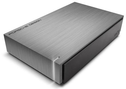 """LaCie Porsche Design Mobile 8TB HDD, 3.5"""" USB 3.0, hliníkový, světle šedý"""