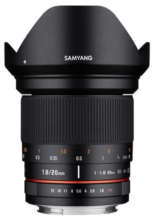 Samyang 20mm f/1,8 ED AS UMC pro Canon EF