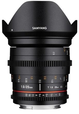 Samyang CINE 20mm T/1,9 VDSLR II ED AS UMC pro Pentax K