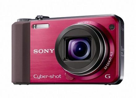 Sony CyberShot DSC-HX7 červený + nahradní akumulátor  zdarma!