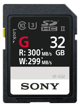 Sony SDHC SF-G 32GB Class 10 U3 UHS-II
