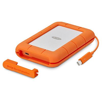 """LaCie Rugged Thunderbolt 500GB SSD, 2.5"""" USB 3.1 Type C, hliníkový, odolný"""