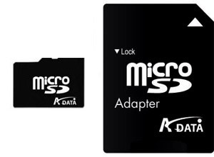 A-Data Micro SD 2GB karta + adaptér SD
