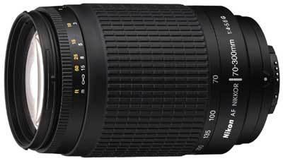 Nikon 70-300 mm F4,5-5,6G AF ZOOM NIKKOR STŘÍBRNÝ, ČERNÝ