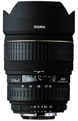 Sigma 15-30 mm F 3,5-4,5 EX DG ASPHERICAL IF pro Canon