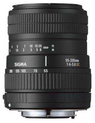 Sigma 55-200 mm F 4-5,6 DC pro Canon + utěrka Sigma zdarma!