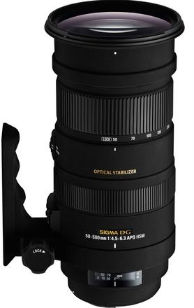 Sigma 50-500mm f/4,5-6,3 APO DG OS HSM pro Nikon