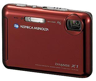 Konica Minolta DiMAGE X1 červená + kožené pouzdro Hugo Boss