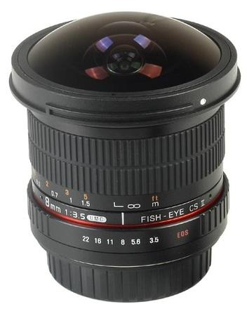 Samyang 8mm f/3,5 CSII pro Fuji X