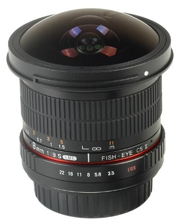 Samyang 8mm f/3,5 CSII pro Canon