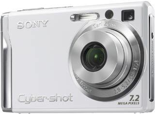 Sony DSC-W80 bílý + MS 1GB DUO karta!