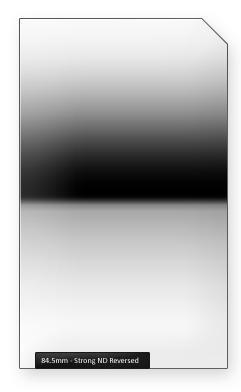 84.5mm Profi ND filtr silný reverzní s ostrým přechodem