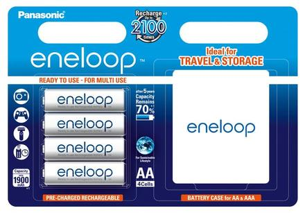 Panasonic Eneloop AA baterie 1900 mAh 4 ks + pouzdro