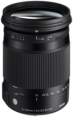 Sigma 18-300mm f/3,5-6,3 DC Macro OS HSM Contemporary pro Canon