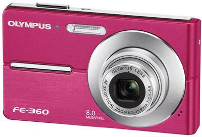 Olympus FE-360 růžový