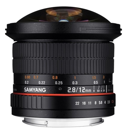 Samyang 12mm f/2.8 ED AS NCS Fisheye pro Canon M