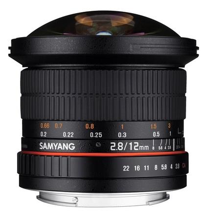 Samyang 12mm f/2.8 ED AS NCS Fisheye pro Canon M
