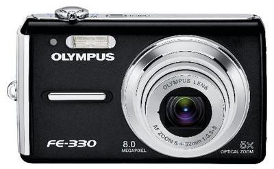 Olympus FE-330 černý + baterie + pouzdro + poutko zdarma!