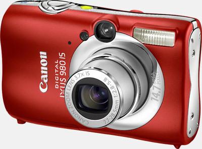 Canon IXUS 980 IS červený