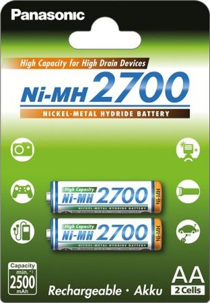 Panasonic NI-MH AA baterie 2700 mAh 2 ks